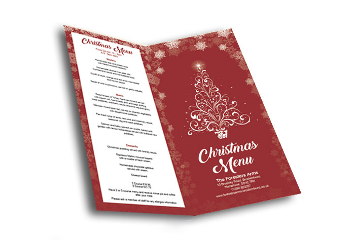 Foresters Arms Christmas Food Menu