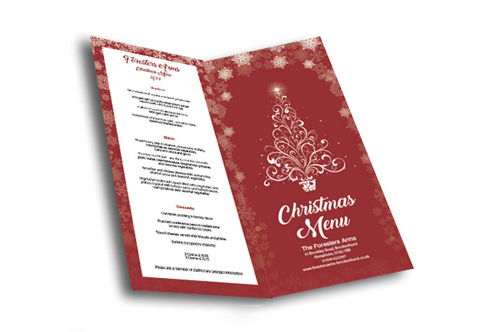 Foresters arms Brockenhurst Christmas menu